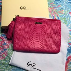 Brand new hot pink Gigi New York all in one clutch
